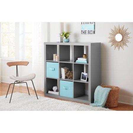 9-Cube StorageMultiple ColorsLiving Room CabinetStorage UnitVersatile Design For Storage BinsHome and Office FurnitureBookcaseShelvingBookshelfOpen Storage Unit BONUS e-book Gray