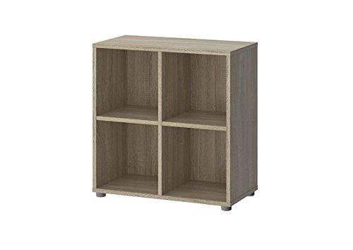 Tvilum Hamilton 4 Shelf Cube Bookcase in Oak Structure