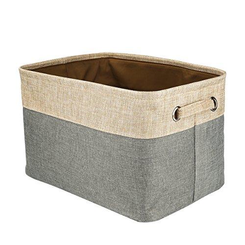 Foldable Convenient Storage Box Organizing Basket Closet Organizer with Handles Cotton Jute