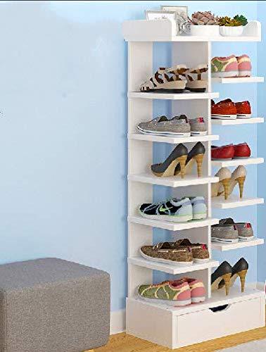 QANAN Narrow Shoe Rack Shoe Rack economical Multi-Layer Racks Shoes Shelf Homes Doors Storage Rack Small Shoe Cabinet SpaceA