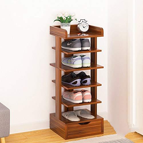 QANAN Narrow Shoe Rack Shoes Rack economical Multi-Layer Racks Shoe Shelf Home Door Storage Rack Small Shoes Cabinet SpaceA
