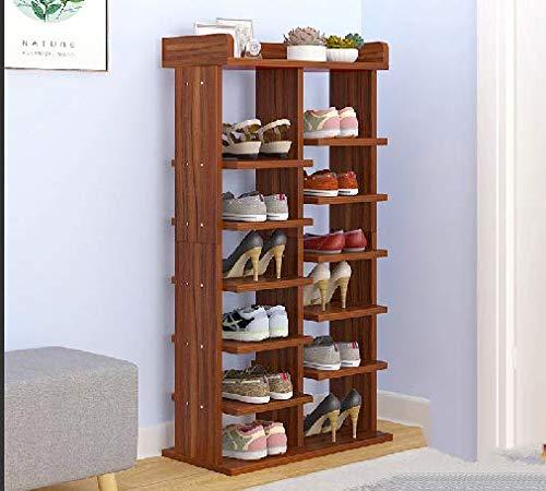 QANAN Narrow Shoe Rack Shoes Rack economical Multi-Layer Racks Shoes Shelf Homes Door Storage Rack Small Shoe Cabinet SpaceA