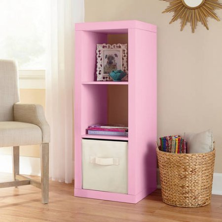 Better Homes and Gardens 3-Cube Organizer Pink