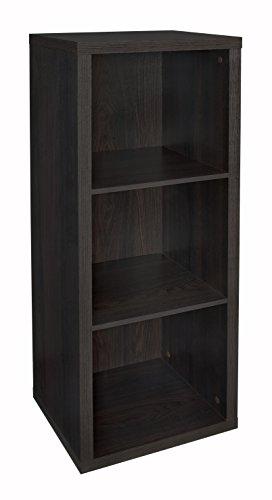 ClosetMaid 4107 Decorative Storage 3 Cube Organizer Black Walnut