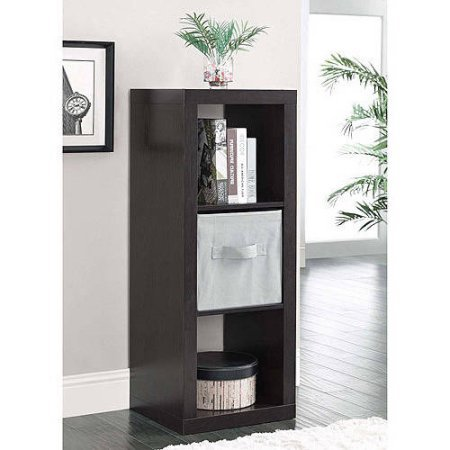 Durable Better Homes and Gardens 3-Cube Organizer Espresso