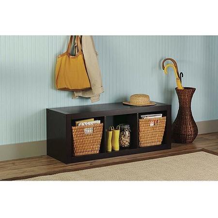 Versatile Better Homes and Gardens 3-Cube Organizer Multiple Colors Espresso