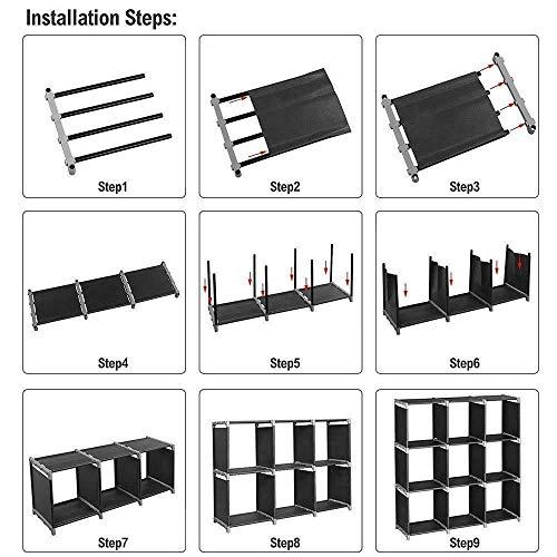 9-Cube Organizer Shelf Closet Cloth Bookcase Storage Modular Multifunctional
