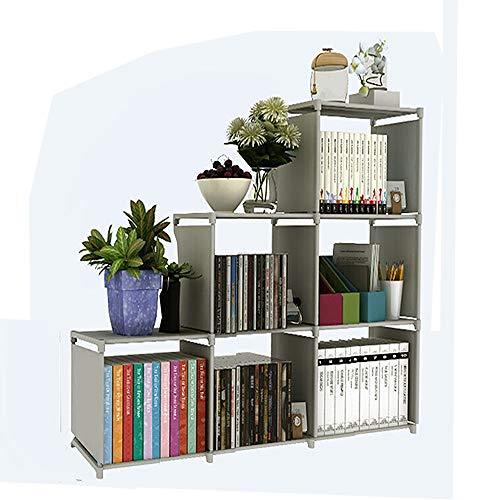 BBtime 3-Tier Storage Cube ClosetDIY 6-Cube Organizer Shelf BookcaseSpace-Saving Unit Cabinet for Kids Bedroom Living Room Office Grey
