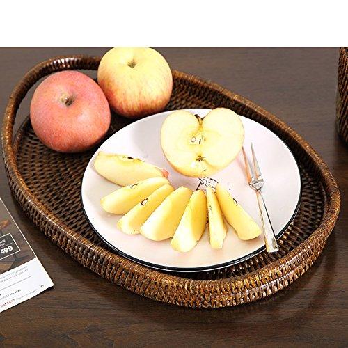 Hand Made-fruit TrayLiving RoomRattan-storage BasketSnack BasketsFruit Basket-A