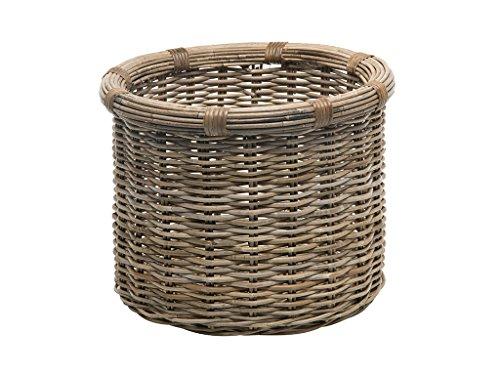 KOUBOO 1060106 Rattan Kobo Round Log and Storage Basket Gray