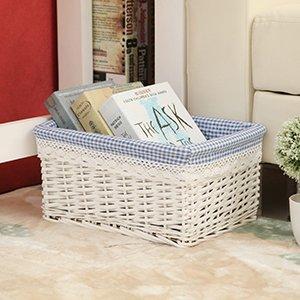 Lqchl The Storage Basket Rattan Storage Basket Basket Of Dirty Clothes Closet Kitchen Snacks Sundries BoxC