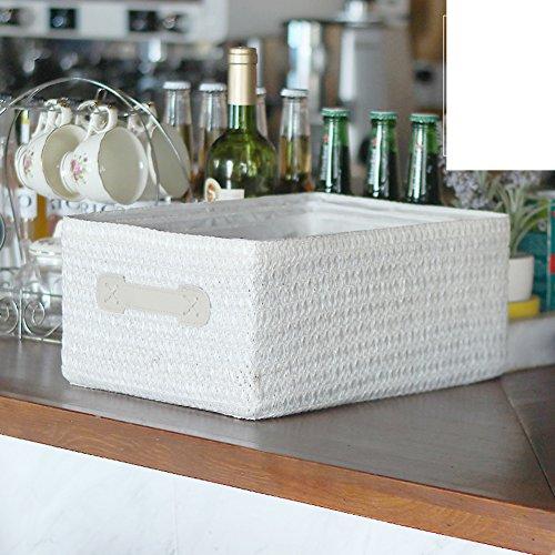 Rattan storage basket willow and interest straw storage box versatile creative pen underwear storage box snack Toy storage basket-A 35x26cm14x10inch