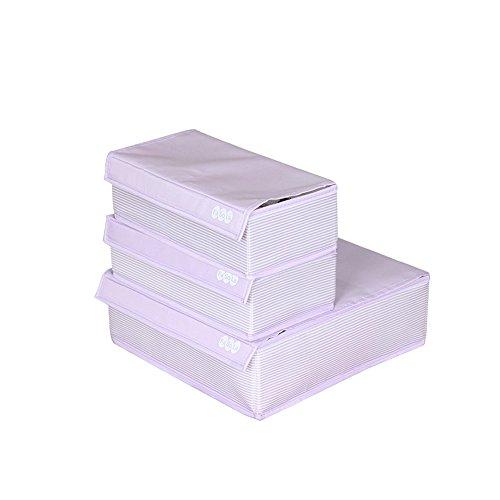 FaSoLa Foldable Bedroom Storage Box With Lid Set of 3