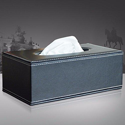 MDRW-Household Household Paper Towel Box Personalized Napkin Paper Box Living Room Bedroom Storage Box Black Tissue storage Box