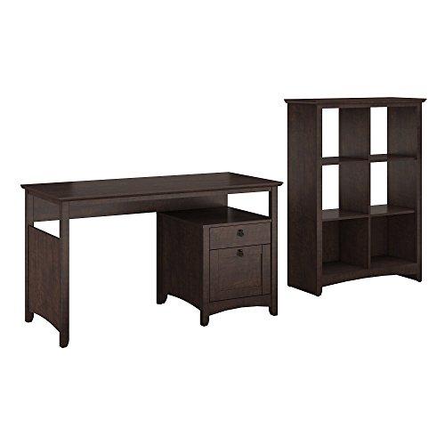 Buena Vista Home Office Desk with 6 Cube Bookcase
