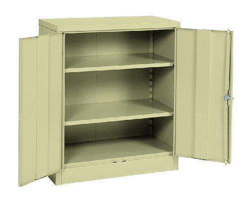 Sandusky Lee RTA7001-07 Putty Steel SnapIt Counter Height Cabinet 2 Adjustable Shelves 42 Height x 36 Width x 18 Depth