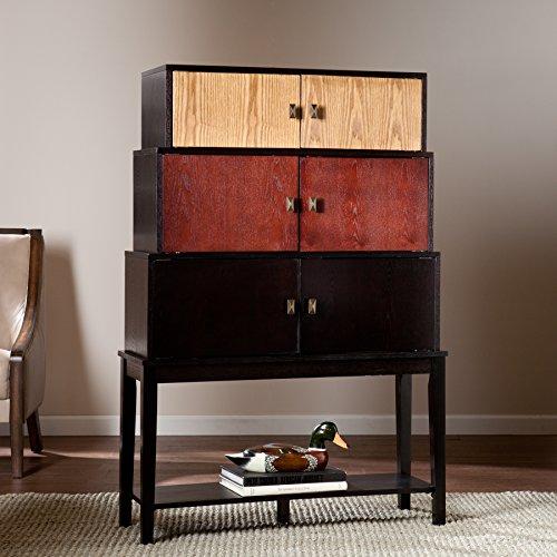 Softbeak Colorblock Tiered Wood Storage Cabinet