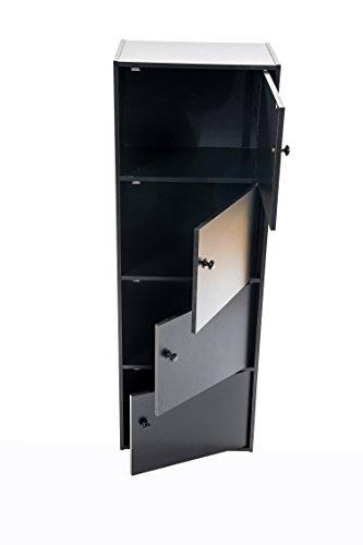 Home Source Industries US 3122 4-Door Utility Cabinet Black