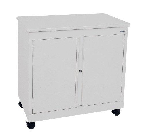 Sandusky Lee RF1F301826-05D Dove Gray Steel Mobile Utility Cabinet 1 Shelf 30 Height x 30 Width x 18 Depth
