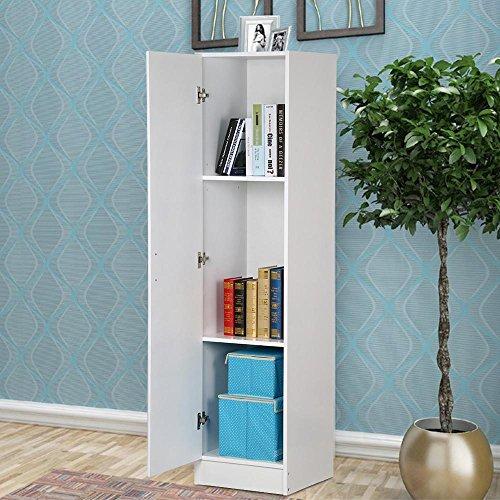 go2buy 65 White Slim Utility Storage Cabinet Single Door Kitchen Bathroom Laundry Cupboard