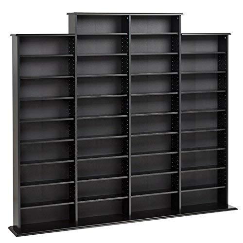 Prepac Quad Width Wall  Storage Cabinet Black