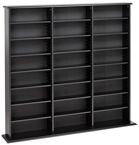 Prepac Triple Width Wall  Storage Cabinet Black