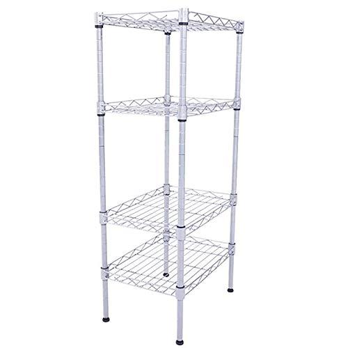 Sorlook 4-Shelf Shelving Unit Heavy Duty Metal Commercial Grade Utility Shelves Sturdy Carbon Steel Rack for Restaurant Garage Pantry Kitchen Garage Rack 1377 x 984 x 315