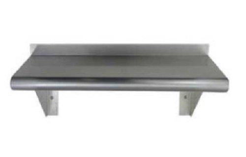 Stainless Steel Wall Shelf  Metal Shelving  Garage Laundry Storage Utility Room  Restaurant Kitchen  Food Prep  NSF Certified 24 Length x 12 Width