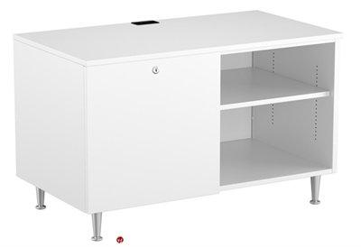 36 Steel Low Storage Cabinet Sliding Door