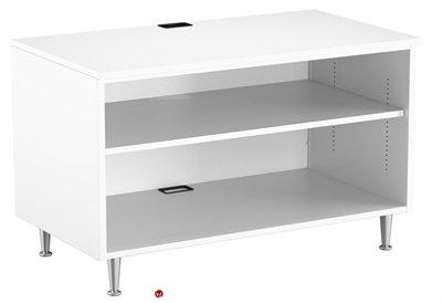 36 Steel Open Shelf Low Storage Cabinet