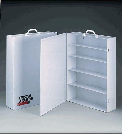 5 Shelf Empty Metal Industrial Cabinet w Swing Side Door