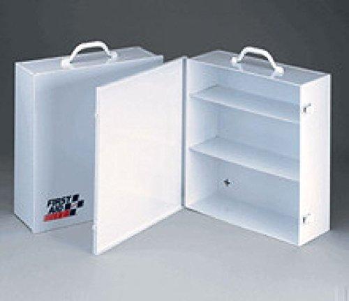 First Aid Only 3 Shelf industrial cabinet- empty metal case w swing out door- 13-716 in x16 in x5-12 in - 1 ea