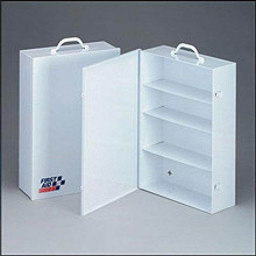 First Aid Only 4 Shelf industrial cabinet- empty metal case w swing out door- 14-1516 in x21-78 in x5-12 in - 1 ea