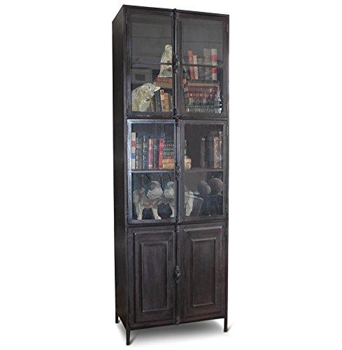 Victor Industrial Loft Iron 6 Door Cabinet Curio