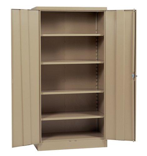 Edsal RTA8005TN 36-Inch Wide by 24-Inch Deep by 78-Inch High Steel Four Shelf Industrial Storage Cabinet Tan