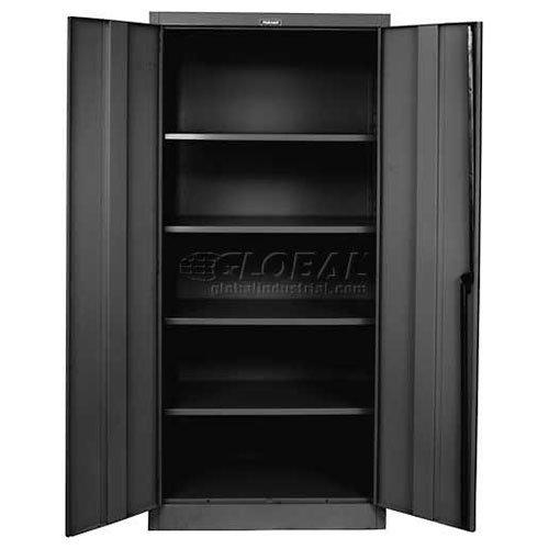 Hallowell Industrial Storage Cabinet - 36Wx24Dx78H - Unassembled - Black - Black