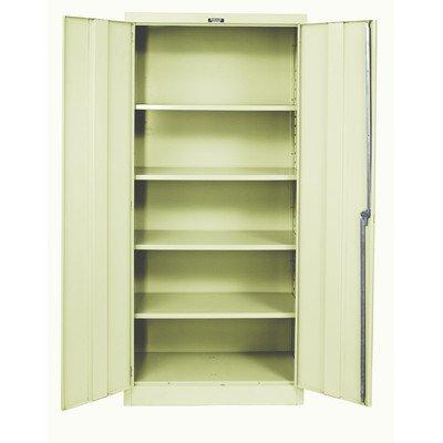 Hallowell Industrial Storage Cabinet - 48Wx24Dx78H - Unassembled - Tan - Tan