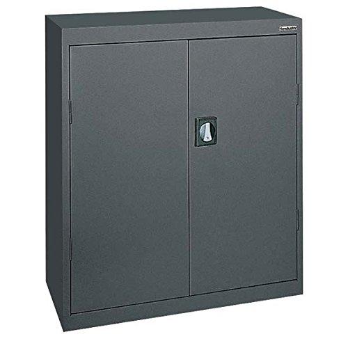 Sandusky Lee Standard-Industrial Storage Cabinets - 36X18x42 - 3 Shelves - Dark Gray - Dark Gray