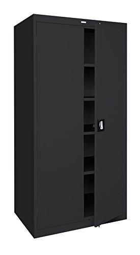 Sandusky Lee Standard-Industrial Storage Cabinets - 36X24x78 - 5 Shelves - Black - Black