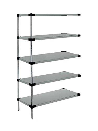 Quantum Storage Systems Solid 5-shelf Add-on Unit - 14 x 72 x 74 - Galvanized steel