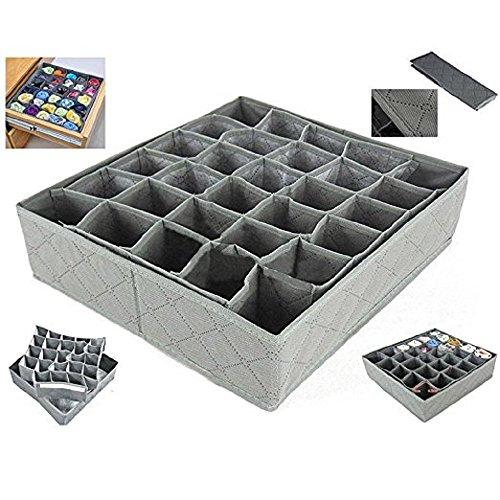 Hosaire Collapsible Drawer Divider 30 Grid Underwear Bra Socks Ties Divider Closet Container Storage Box Organizer