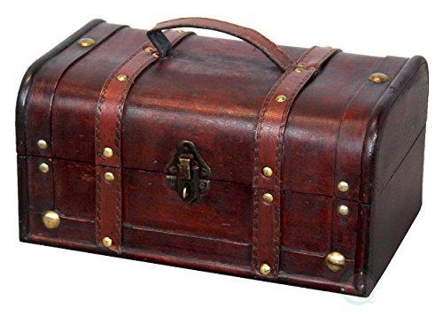 VintiquewiseTM Decorative Treasure Box - Wooden Trunk Chest