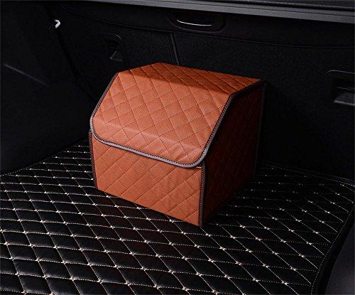 ALUS- Automotive supplies - trunk storage box multipurpose folding glove box 35cm 32cm 30cm  Color  Brown Lattice