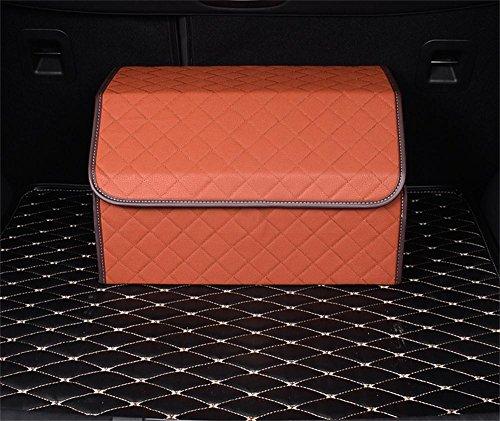 ALUS- Automotive supplies - trunk storage box multipurpose folding glove box 50cm 32cm 30cm  Color  Brown Lattice
