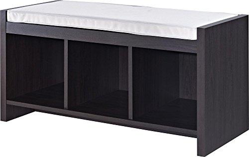 Altra Penelope Entryway Storage Bench with Cushion Espresso
