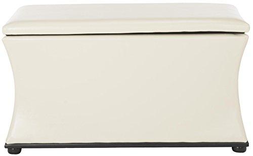 Safavieh Hudson Collection Aroura White Storage Bench Gold