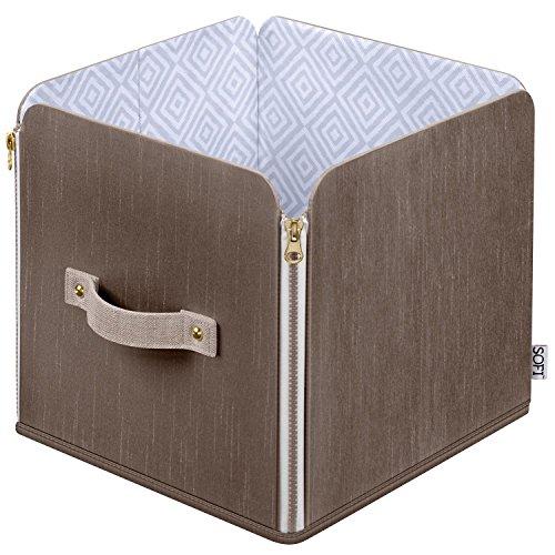 Sofi Cube Zipper Tote for Home Closet Storage 4Pk