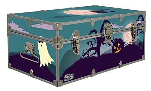 Halloween Decoration Storage Footlocker Trunk - Spooky Graveyard - 32 x 18 x 135 Inches
