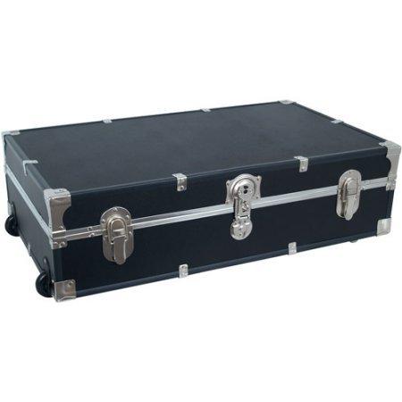 Mercury Luggage Seward Under the Bed Wheeled Storage Footlocker 31 Black