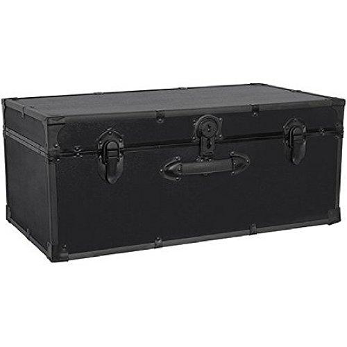 Seward Trunk Stackable Storage Footlocker 30 black